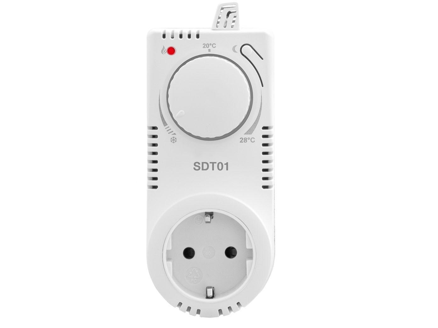 stecker thermostat f r infrarotheizung steckdosenthermostat mit nachtabsenkung ebay. Black Bedroom Furniture Sets. Home Design Ideas