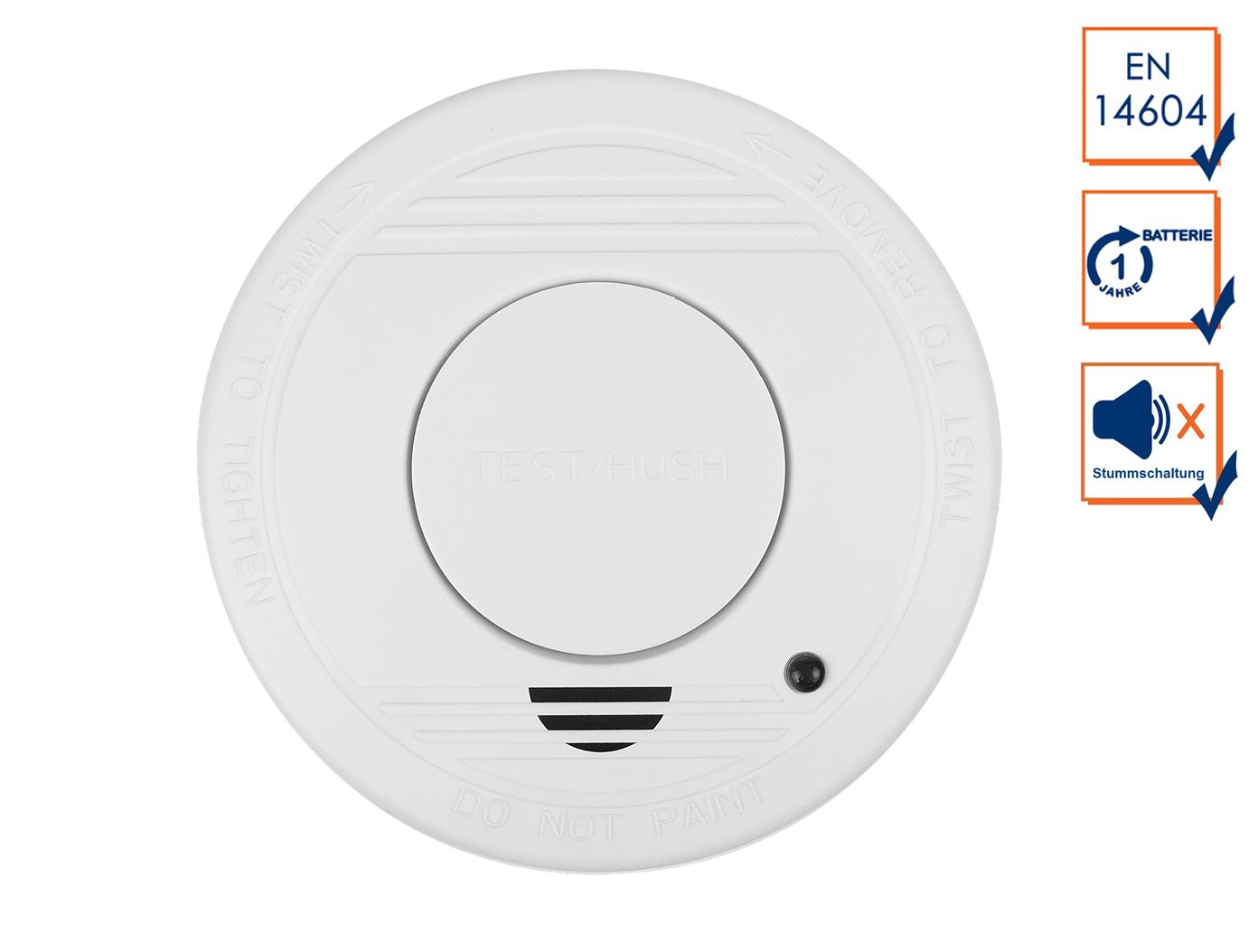 2er Set ELRO Mini allarme incendio ANNO 10 VDS BATTERIA certificate-protezione antincendio