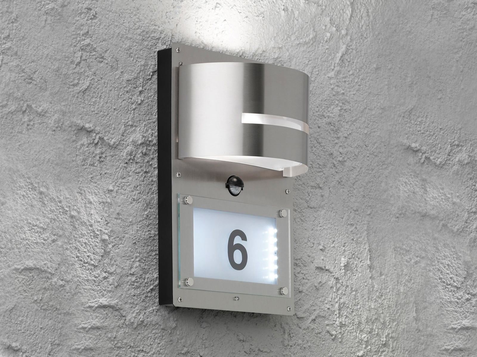 Edelstahl Außenlampe Bewegungsmelder IPP44 LED Wandleuchte außen ...