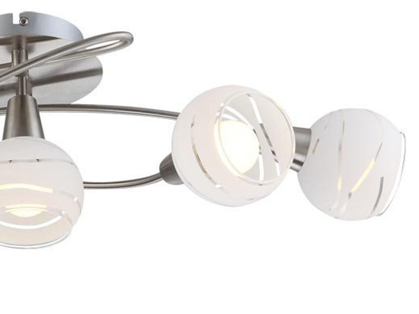 2x LED Deckenlampen Strahler 5flammig mit Glasschirmen Deckenleuchten Rondell