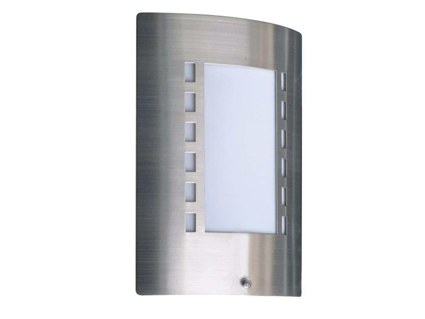 Extérieur Lampe murale capteur de lumière acier inoxydable//verre variateur ip44 ranex e27