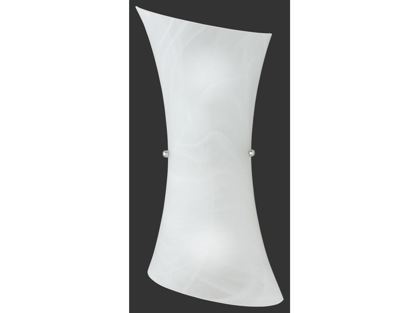 Trio-Leuchten Alabaster mattweiß Wandleuchte aus Glas Höhe 40cm