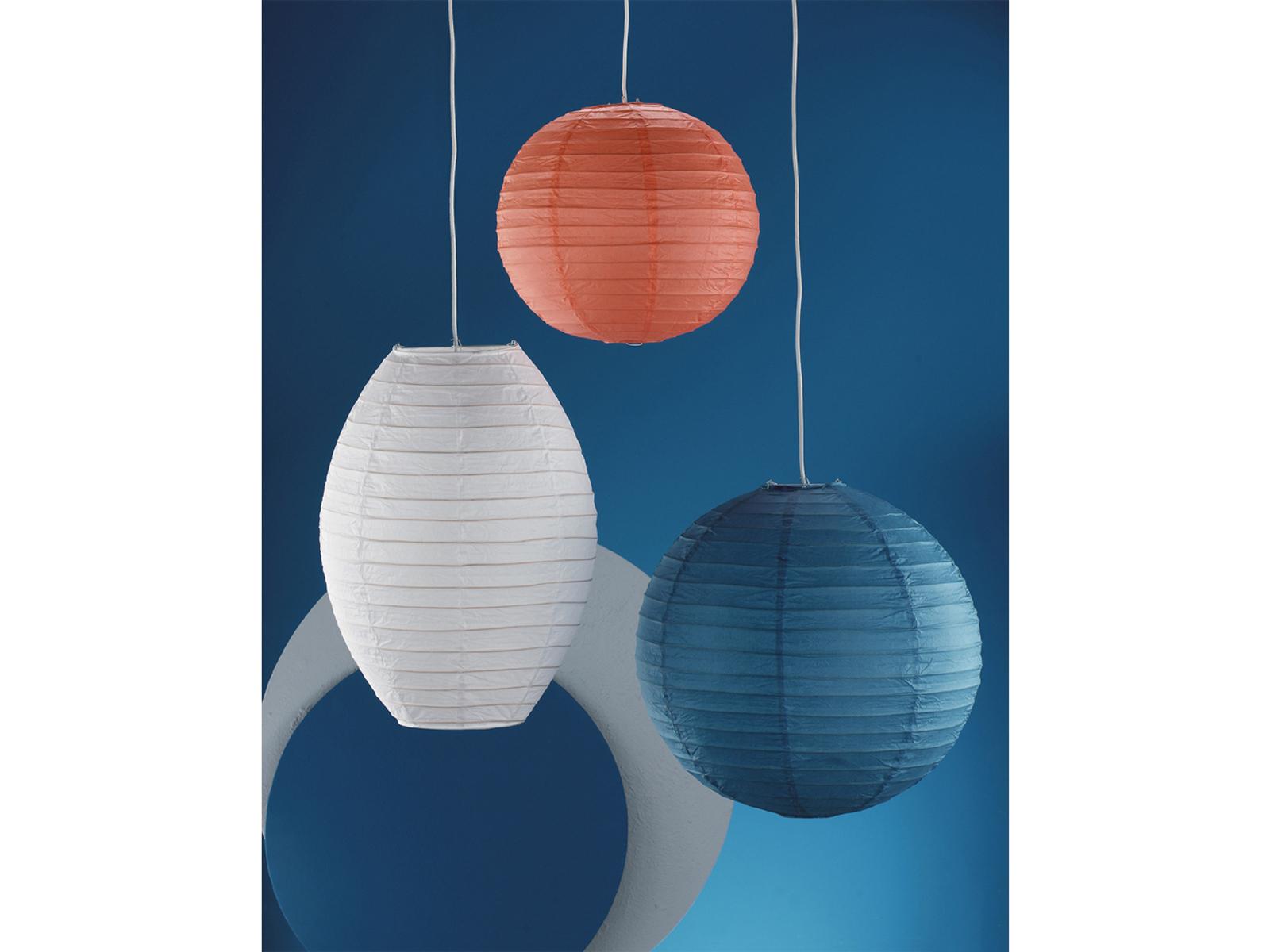 Pendelleuchte Lampion Trio Lampenschirm Japan-Kugel PAPER Papier blau Ø 40cm
