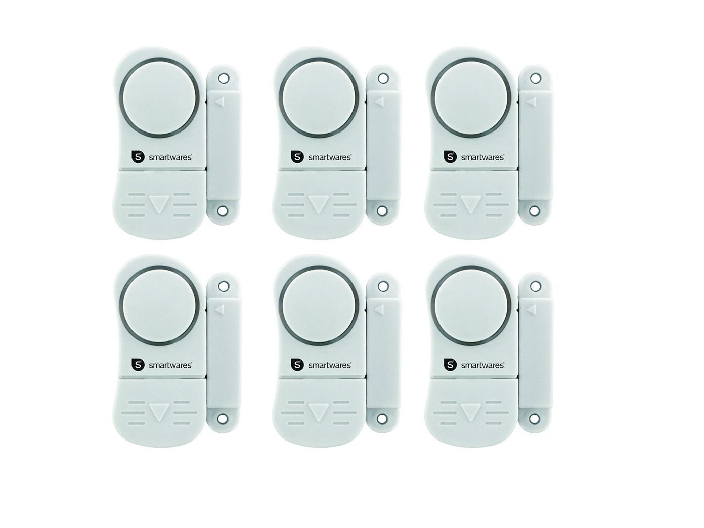 6er-set fenstersicherung türsicherung alarm türsirene minialarm