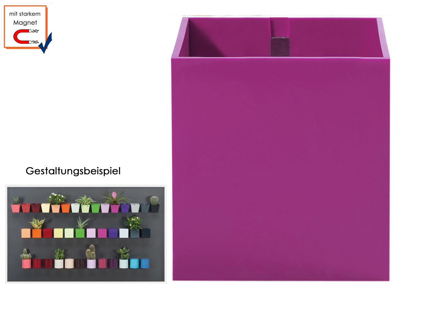Kunststofftopf Cube M. magnétique ø 3,5cm, wandaufbewahrung déco, kalamitica