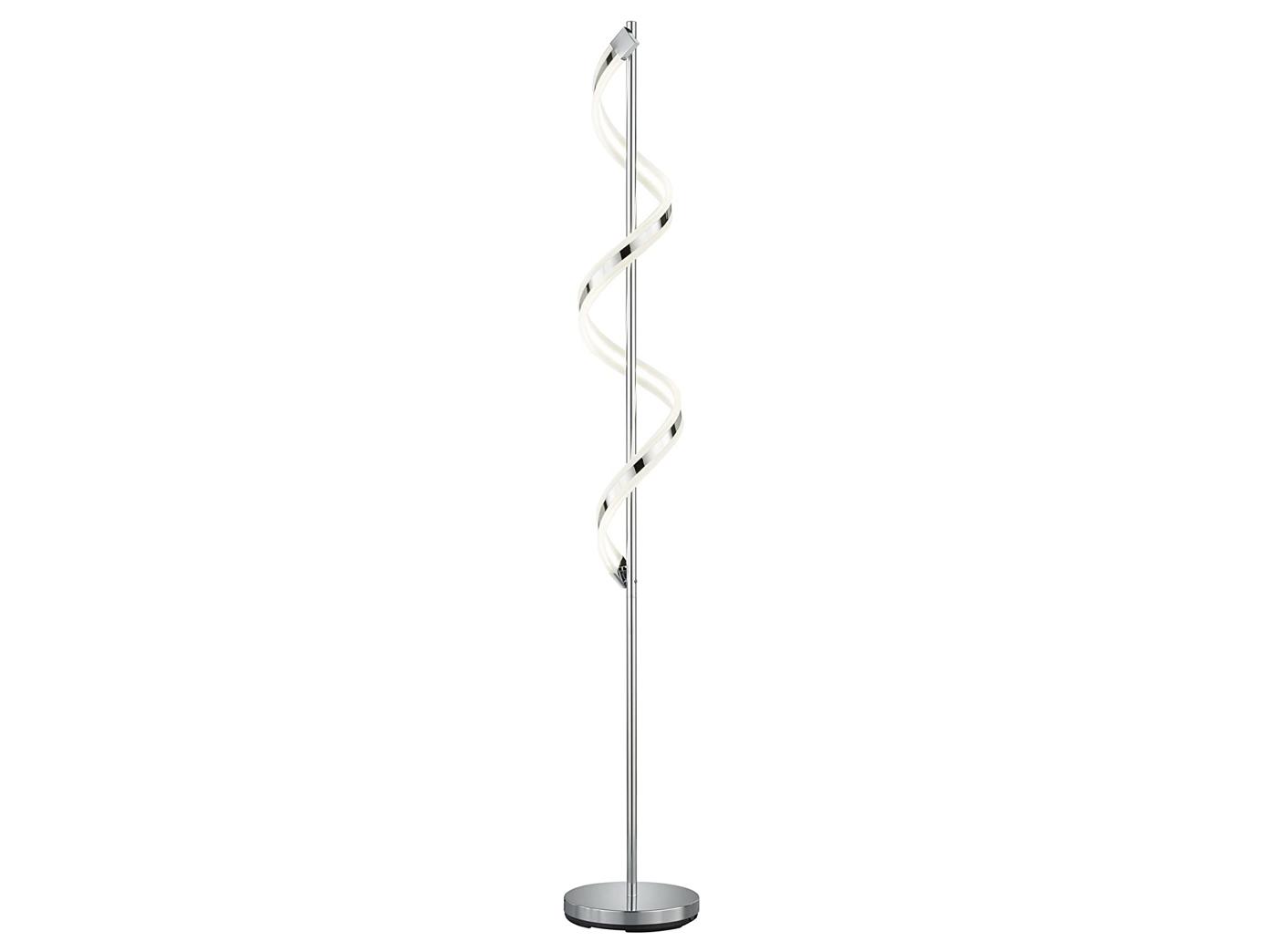 Fußdimmer 1x 20W LED 162 cm LED Stehleuchte Stehlampe SYDNEY H Trio Chrom