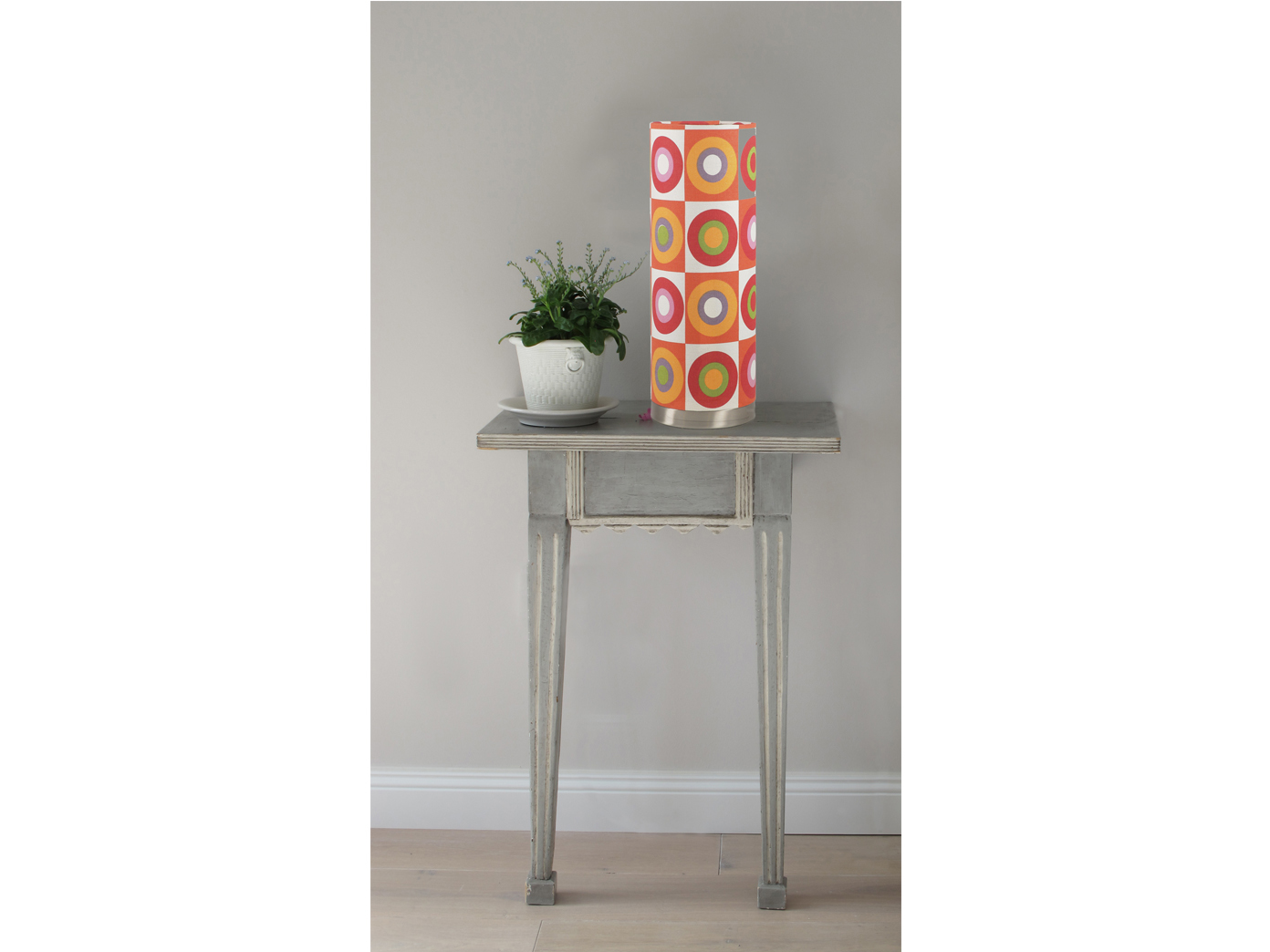 Ø 15 cm Retro-Look Design LED Tischlampen CLAIRE 2er-Set Höhe 42 cm Vintage
