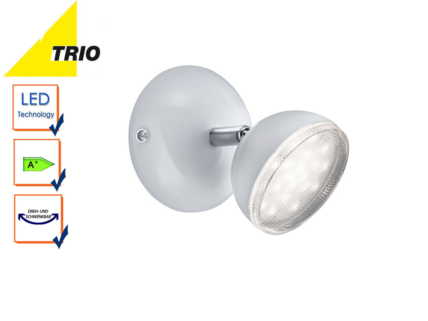 lampadaire liseuse logement projecteur Modern LED Lampe murale wandstrahler Bolou blanc
