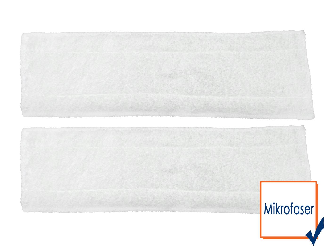 2 x reemplazo Microgamuza pañuelos para VAPORETA do230sr/do231sr - 42x12 cm