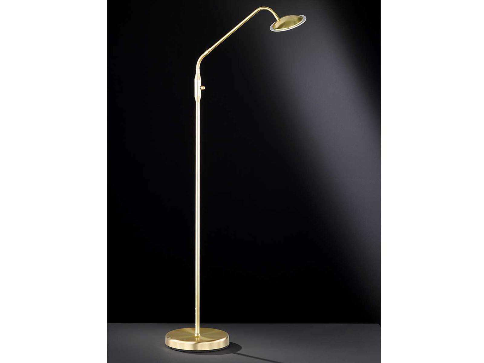 Flexible LED-Leseleuchte mit Dimmer Wofi-Leuchten Messing matt
