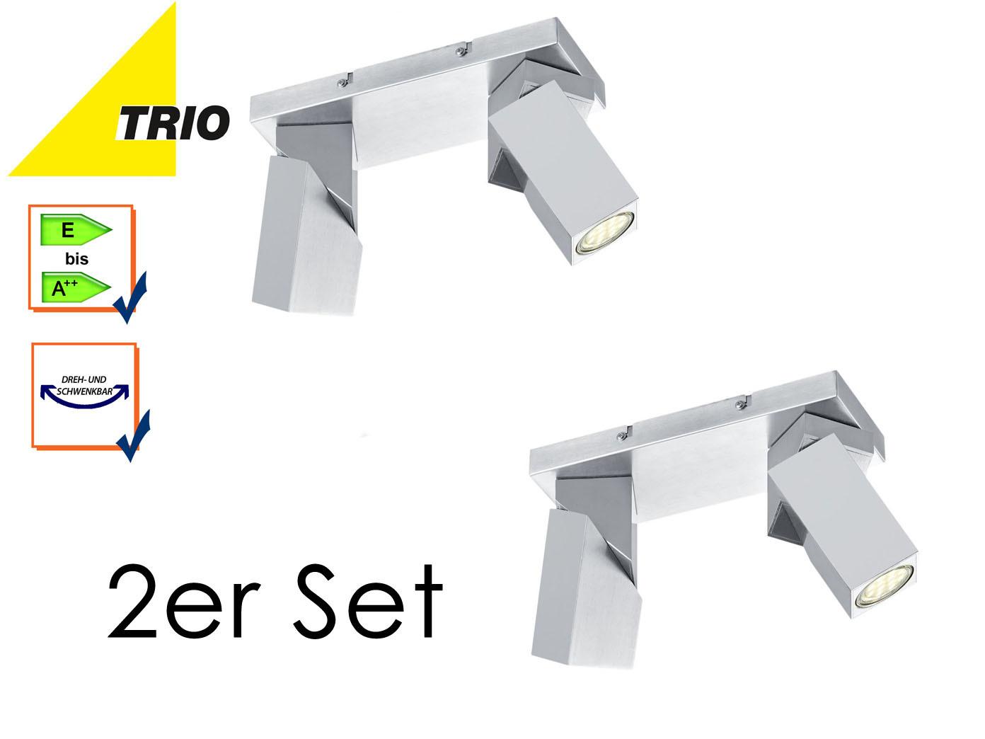 Strahler Set Deckenstrahler doppelt schwenkbar Deckenleuchte Wohnzimmer modern