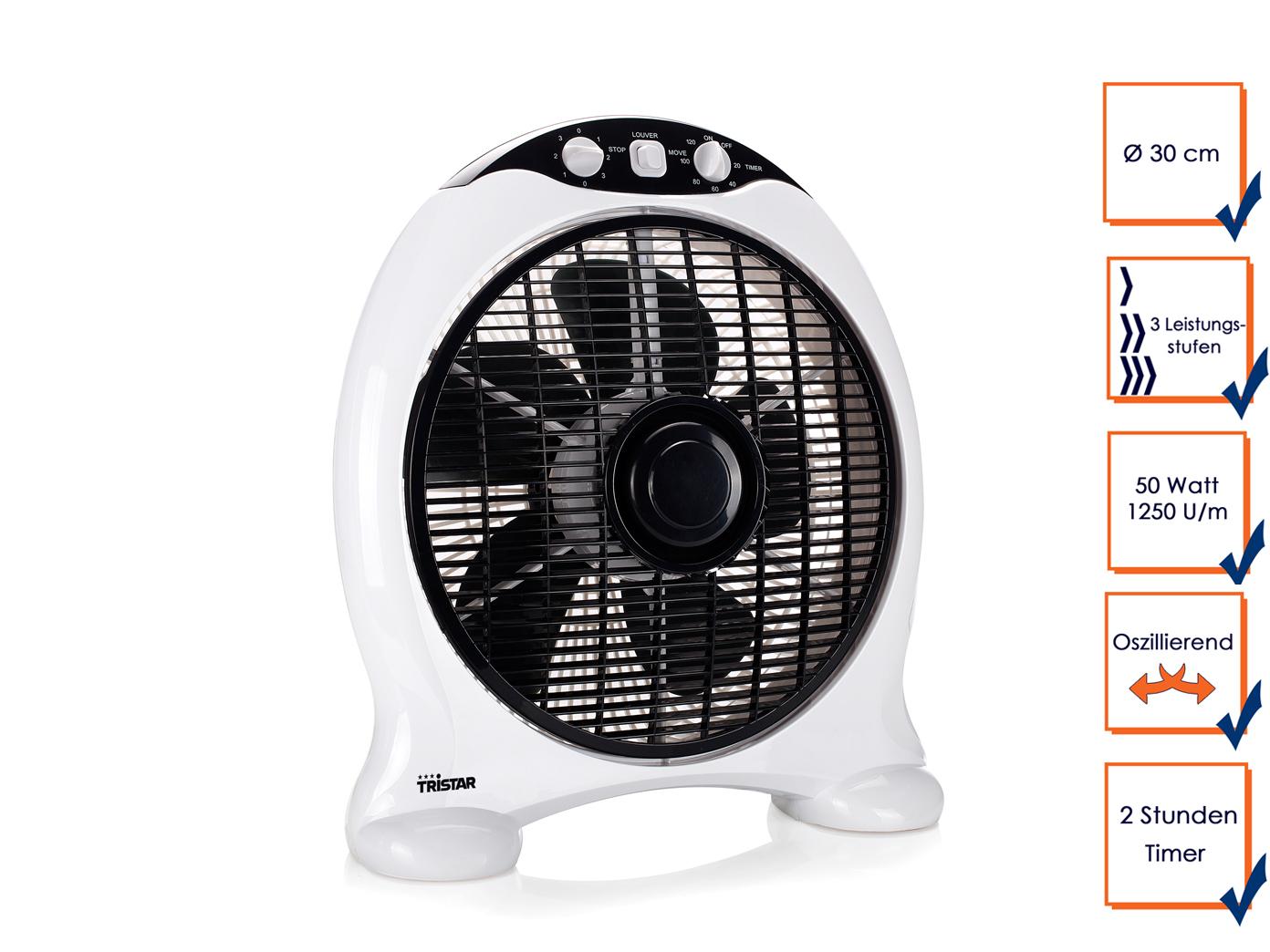 zimmer ventilator mit timerfunktion oszillierend 3 stufen box ventilator l fter 8713016041906 ebay. Black Bedroom Furniture Sets. Home Design Ideas
