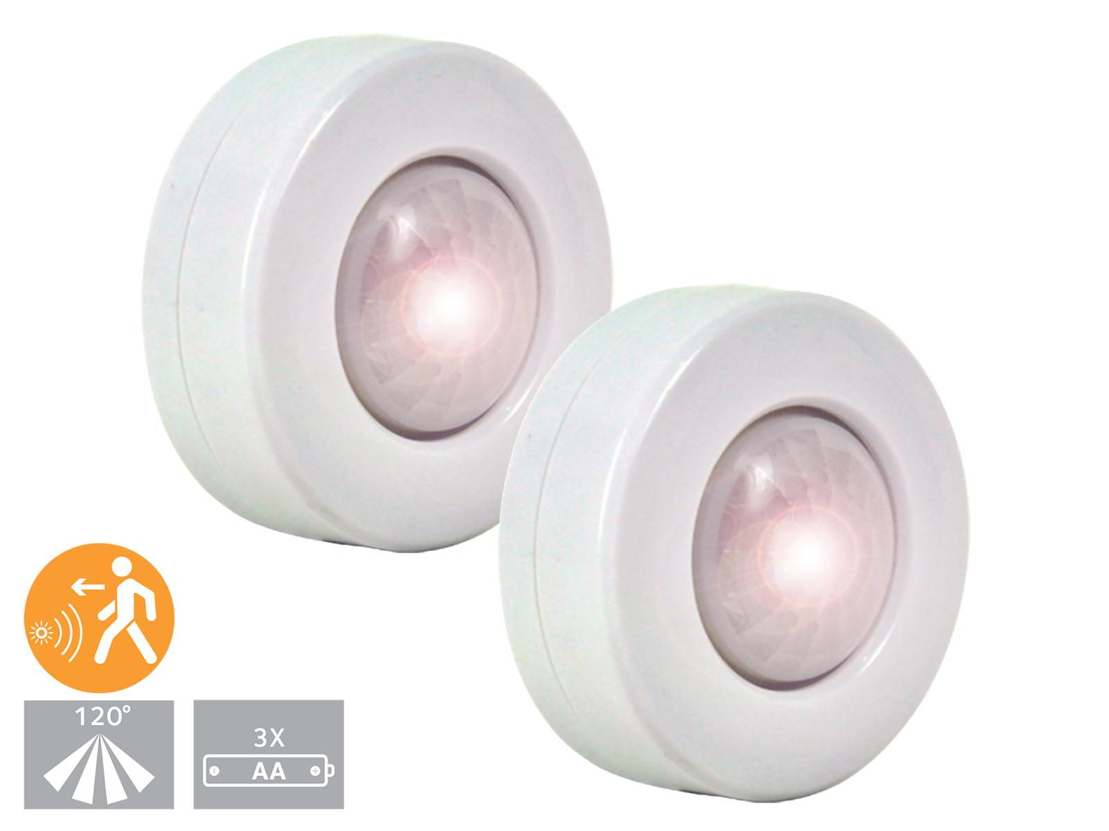2er set led nachtlicht mit bewegungssensor schubladenlicht schranklicht notlicht 4260492256804. Black Bedroom Furniture Sets. Home Design Ideas