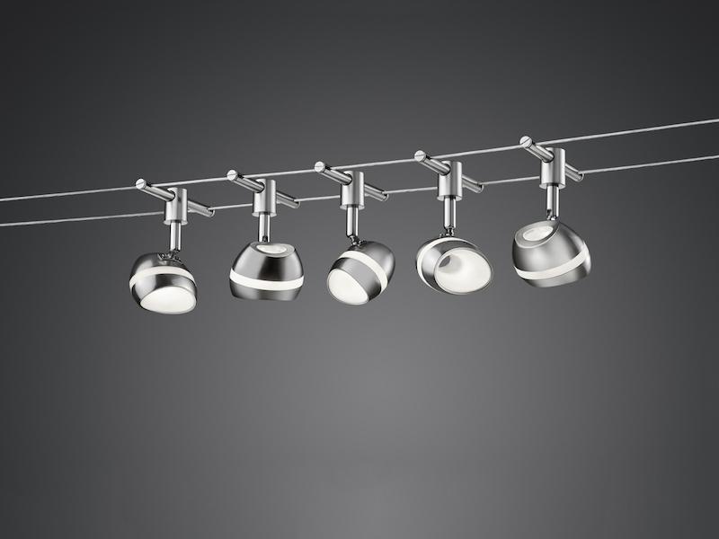 Trio 5m led deckenleuchte schienensystem seilsystem lampe b ro flur wohnraum ebay - Led buro deckenleuchte ...