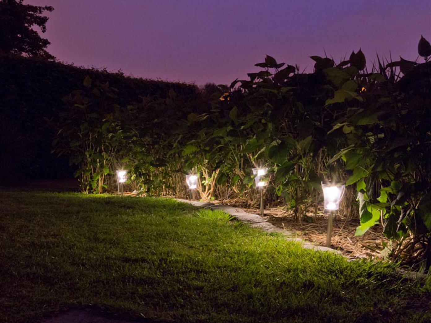 solarleuchten im 8er set f r garten terrassen wegeleuchten 9cm edelstahl lampe eur 40 99. Black Bedroom Furniture Sets. Home Design Ideas
