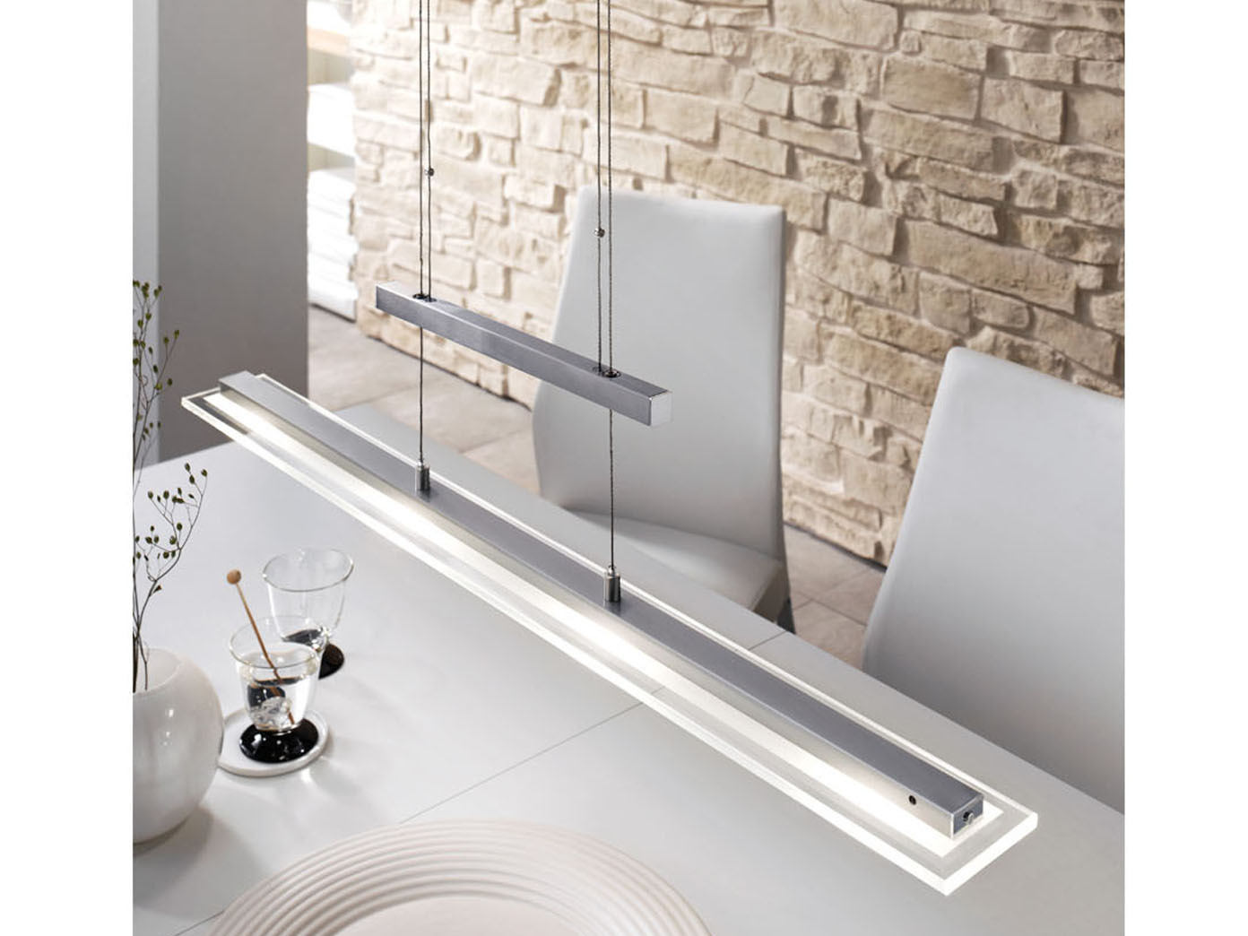 Das Bild Wird Geladen LED  Pendelleuchte Dimmbar Hoehenverstellbar Haengelampe Pendel Esszimmerlampen