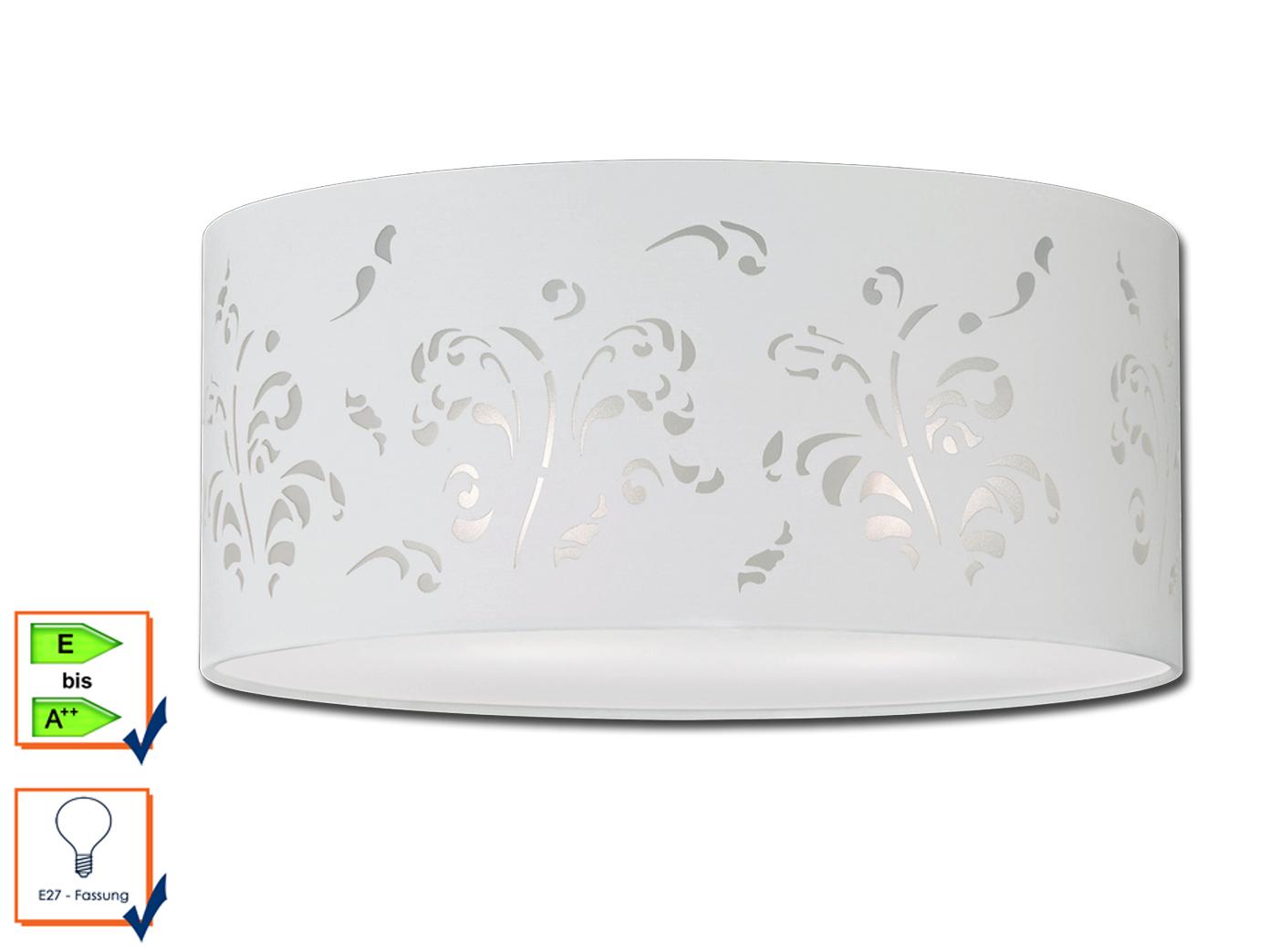 Plafoniere Moderne In Tessuto : Plafoniera con profilo bianco tessuto ombrello decoro Ø 45cm