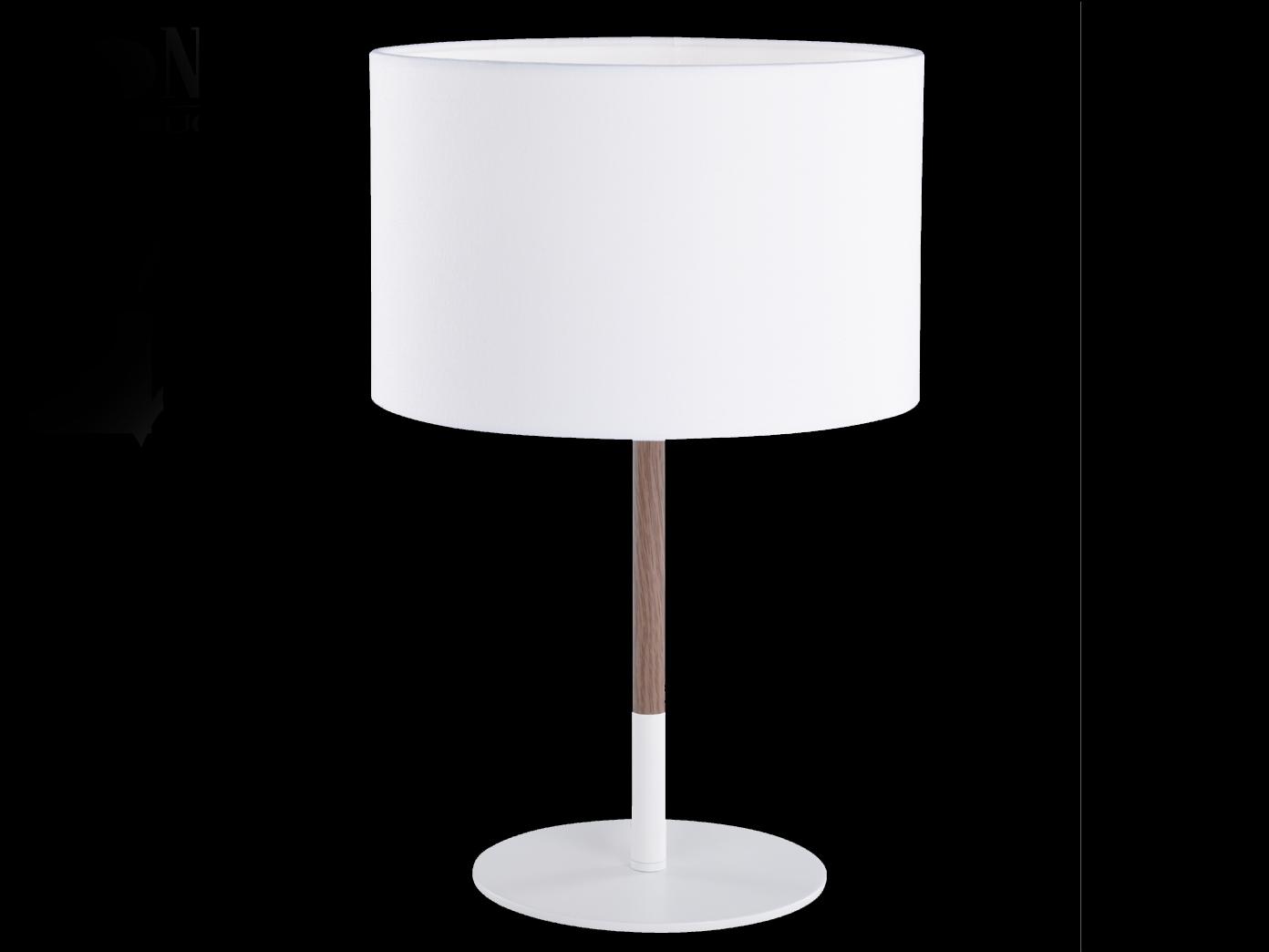 Schön Moderne Tischlampen Foto Von Edle-design-tischleuchte-mit-stoffschirm-weiss-holzfarbig-moderne-