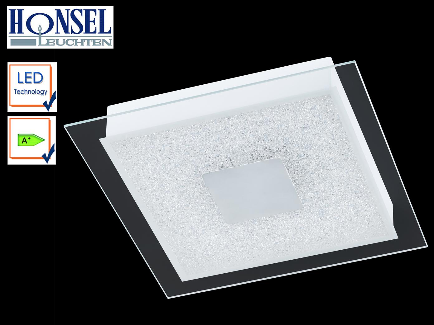 Moderne Deckenleuchte 35 x 35cm LED Weiß Glasabdeckung mit Acryl ...