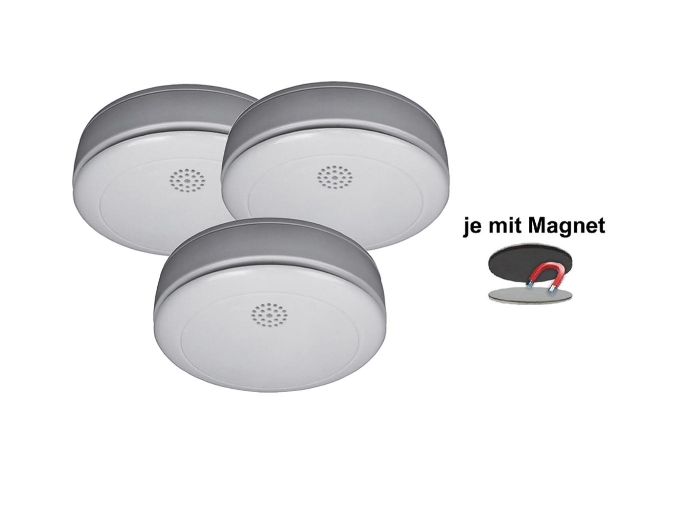 3er sparset rauchmelder mit 10 jahres batterie. Black Bedroom Furniture Sets. Home Design Ideas