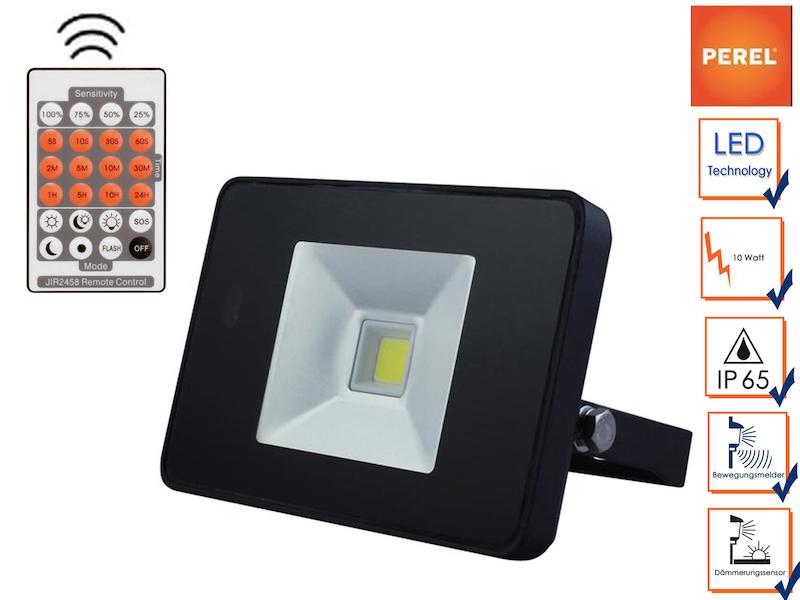 LED Strahler mit Bewegungsmelder und Fernbedienung, IP65 ...