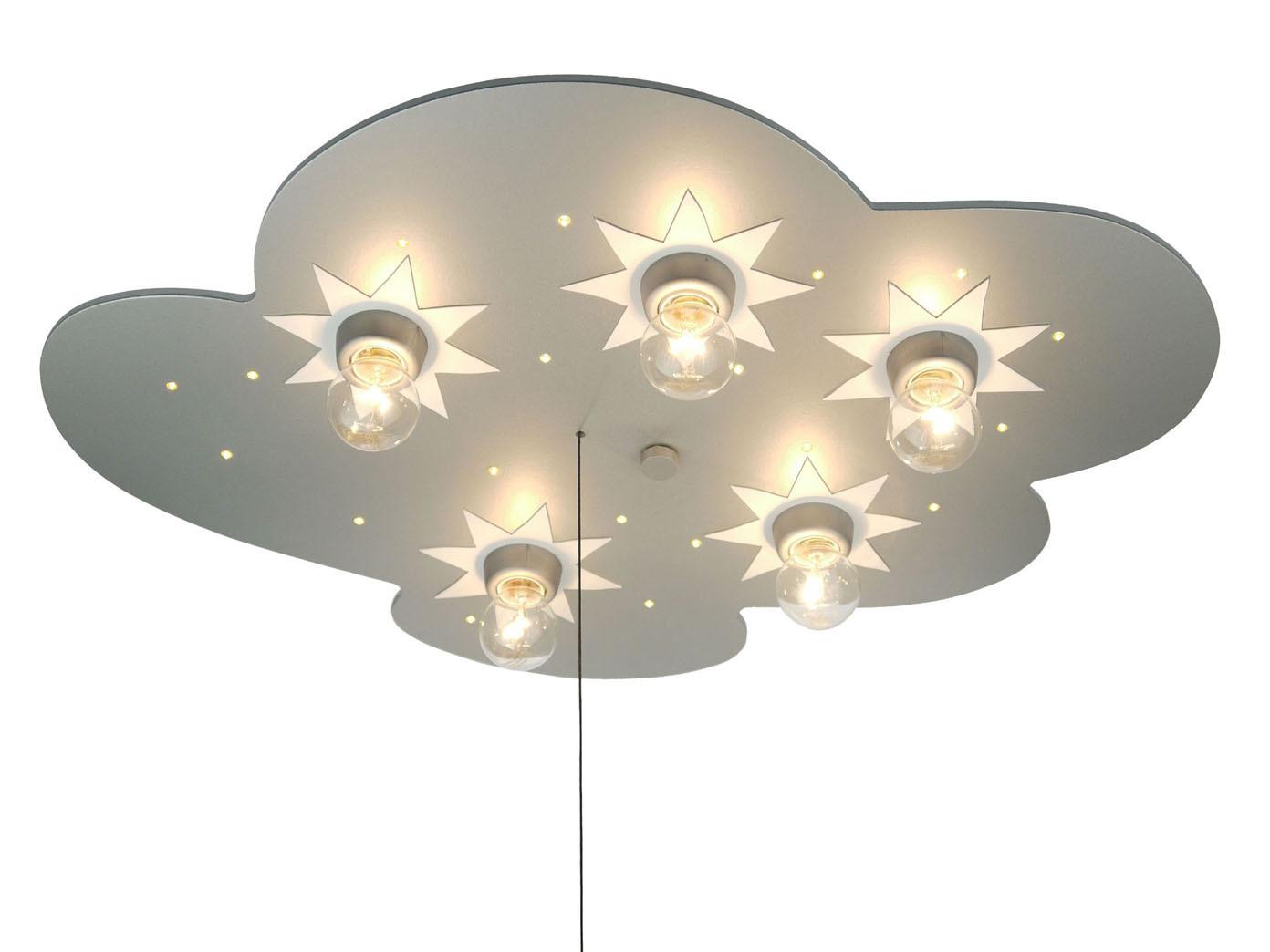 LED Kinder Deckenlampe Wolke Schlummerlicht LED Sternenhimmel ...