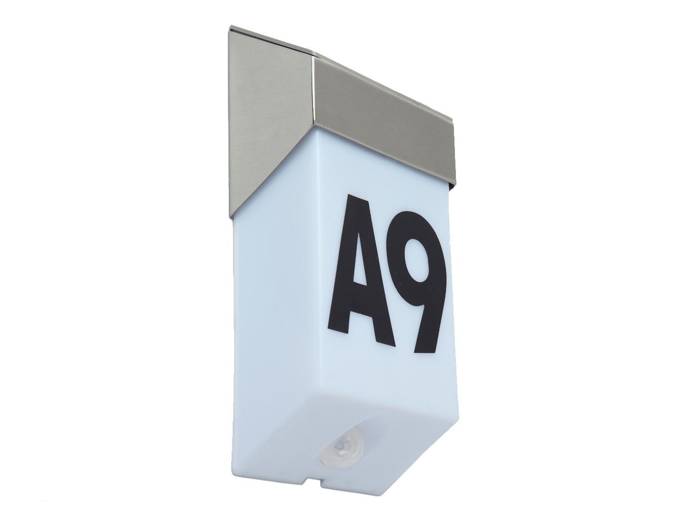 LED-Ausenwandleuchte-mit-Solar-Bewegungsmelder-Hausnummern-IP44-Wandleuchten miniatura 3