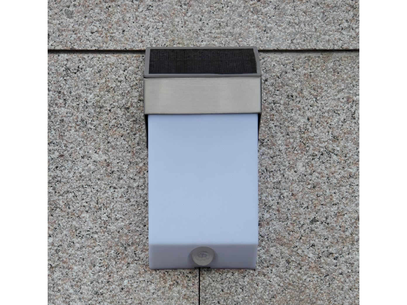 LED-Ausenwandleuchte-mit-Solar-Bewegungsmelder-Hausnummern-IP44-Wandleuchten miniatura 6