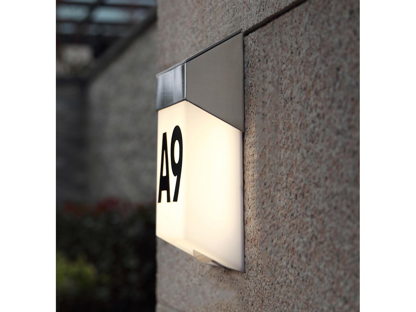 LED-Ausenwandleuchte-mit-Solar-Bewegungsmelder-Hausnummern-IP44-Wandleuchten