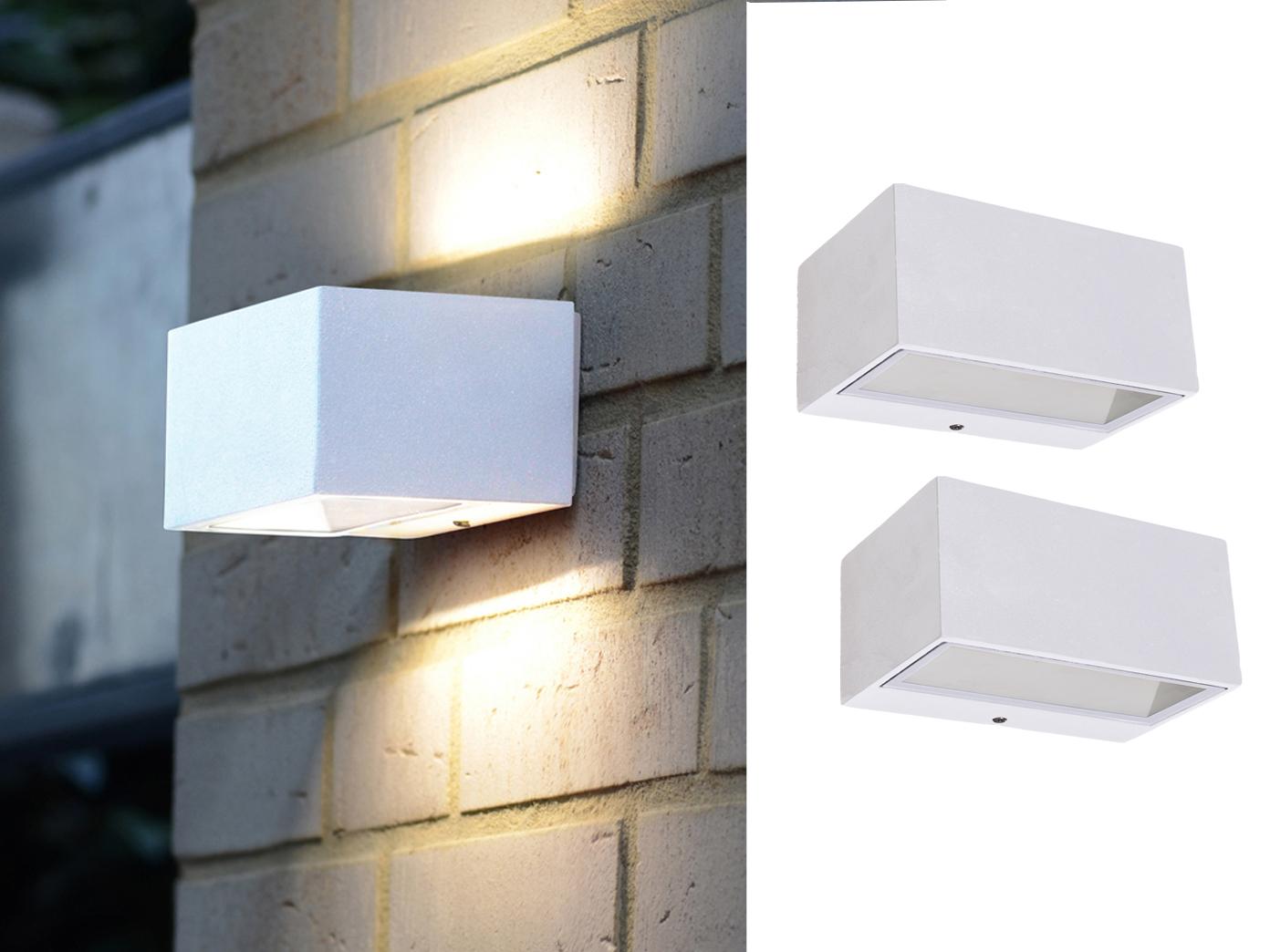 2 pezzi led lampada da parete bianco & downlight illuminazione