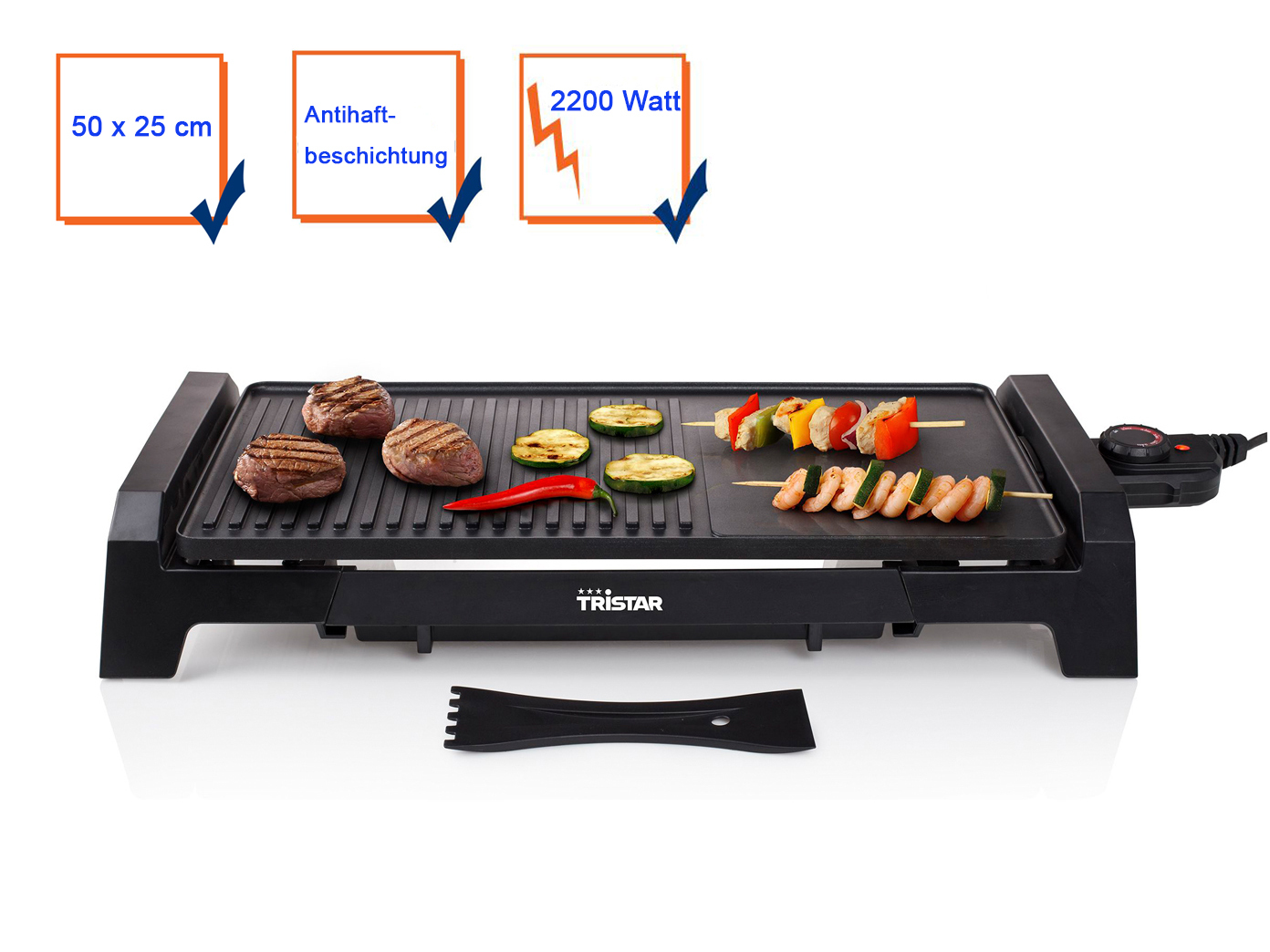 teppanyaki grillplatte multi tischgrill elektro. Black Bedroom Furniture Sets. Home Design Ideas