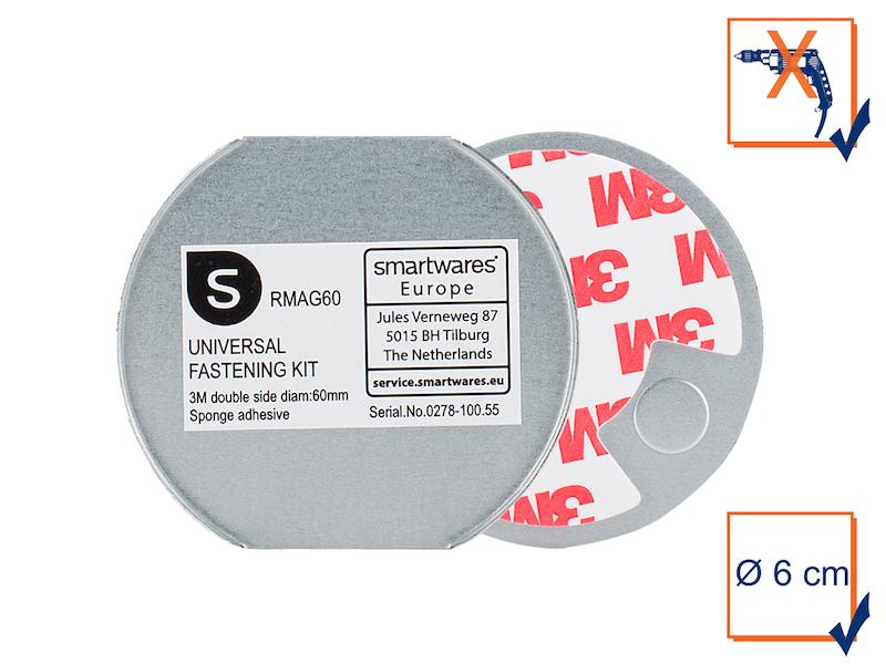3m magnetplatte magnethalter f r rauchmelder 6cm magnetbefestigung magnet ebay. Black Bedroom Furniture Sets. Home Design Ideas