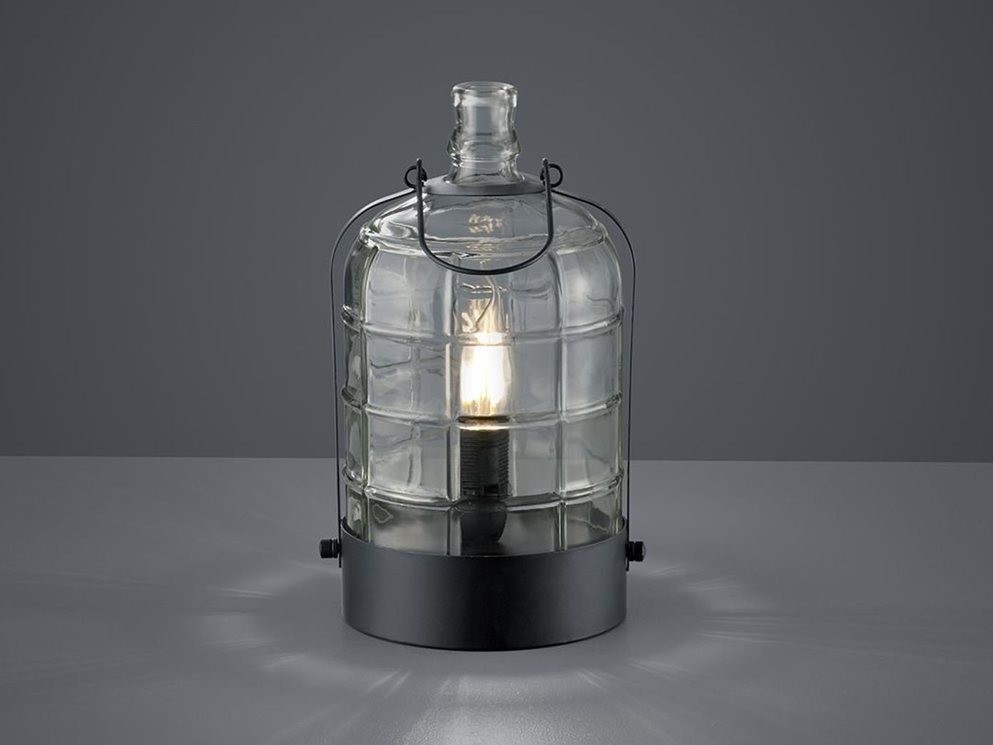 kleine led tischlampe retro stil tischleuchte glas. Black Bedroom Furniture Sets. Home Design Ideas