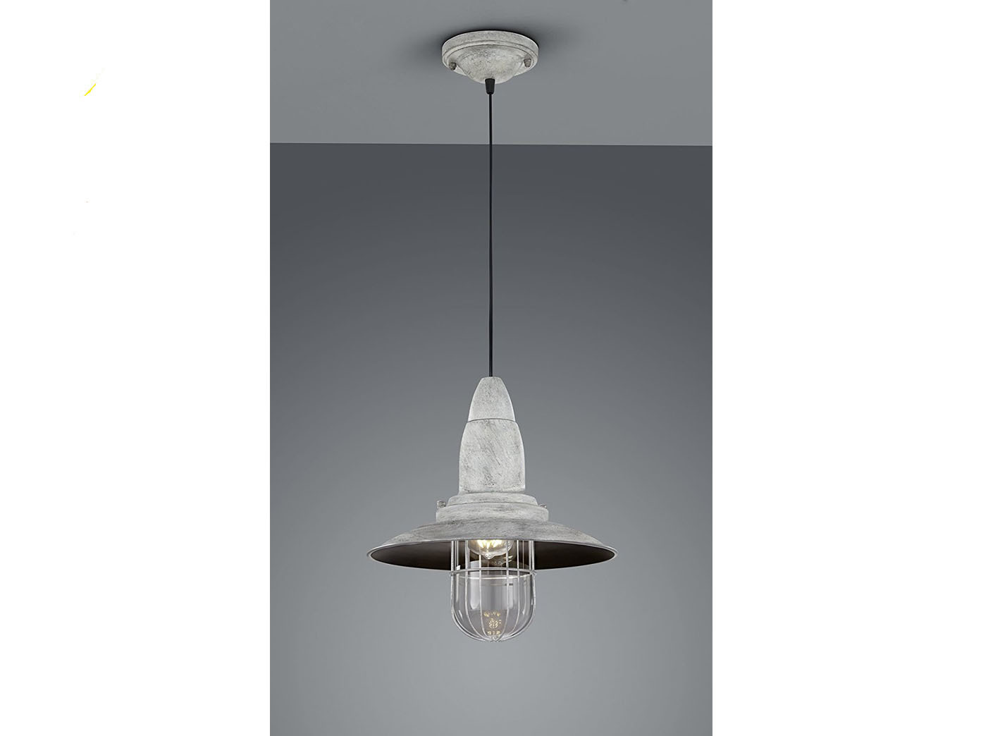 Led pendelleuchte industrie lampenschirm grau antik glas for Led lampenschirm