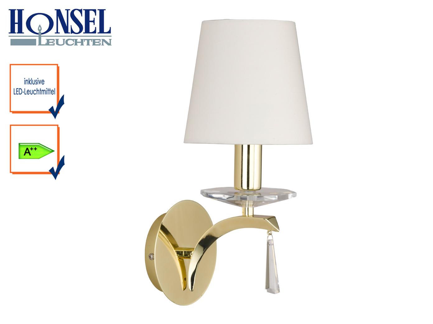 Das Bild Wird Geladen Wandleuchte Messing Acryl Schirm Stoff Weiss LED Wohnzimmerlampe