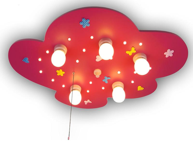 led m dchen deckenlampe f r kinderzimmer wolke blumenwiese led schlummerlicht ebay. Black Bedroom Furniture Sets. Home Design Ideas