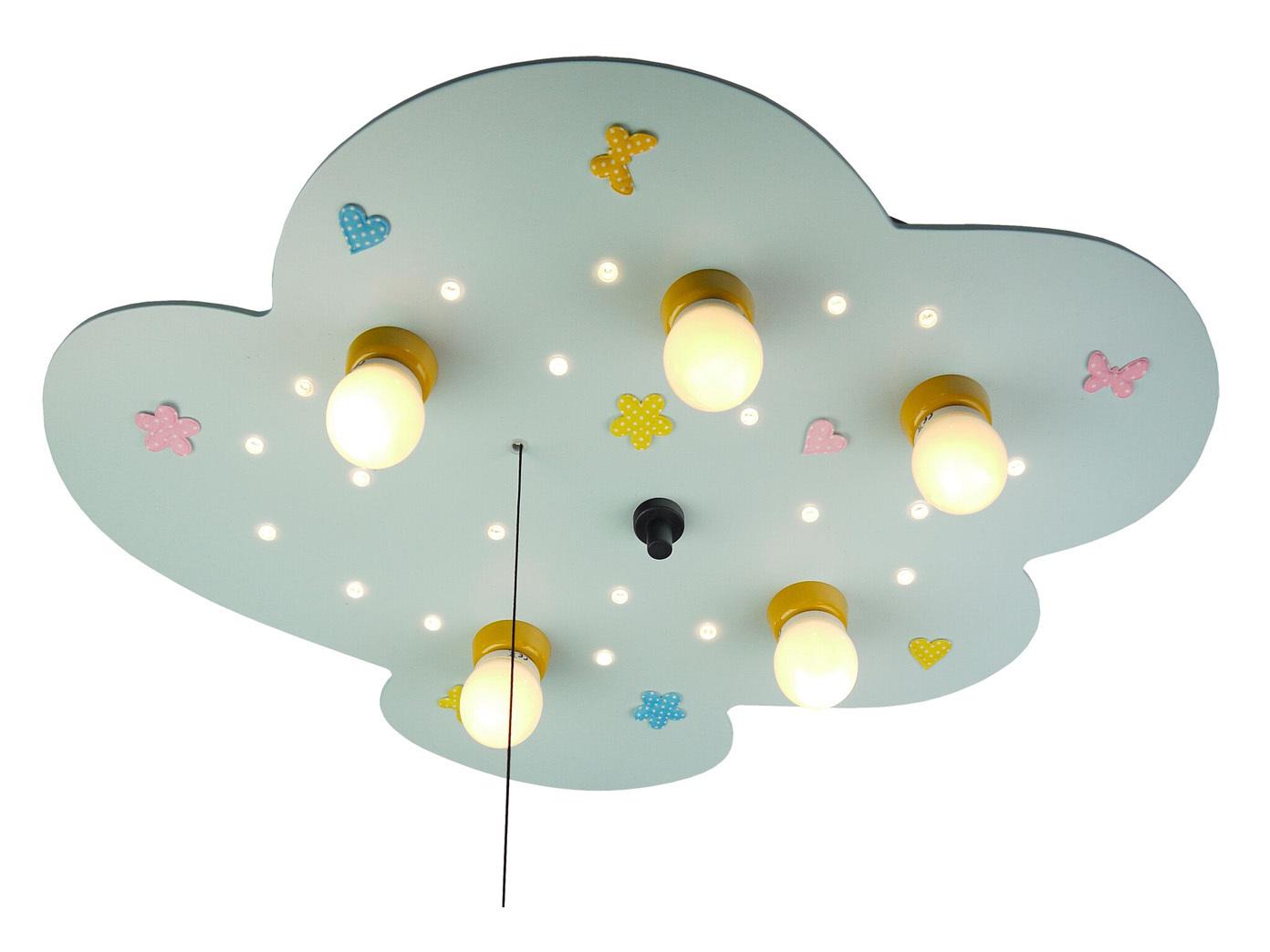 deckenlampe f r kinderzimmer wolke amazon echo kompatibel led schlummerlicht neu 4036239027613. Black Bedroom Furniture Sets. Home Design Ideas