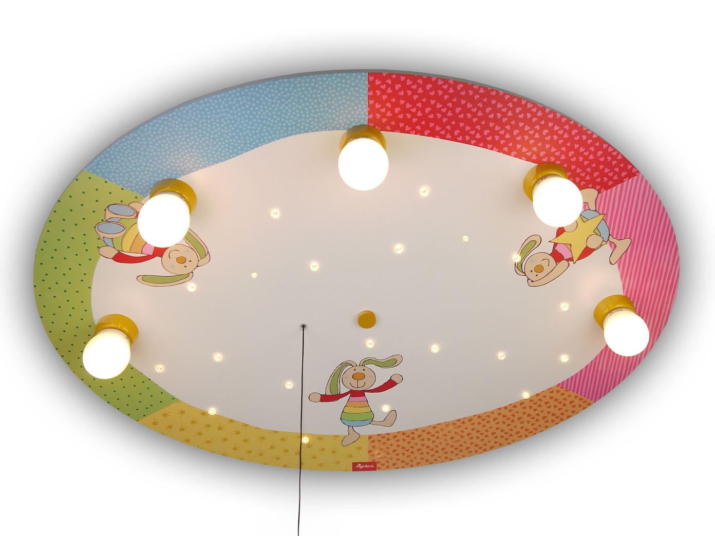 Led deckenleuchte kinderzimmer bunte h schen schlummerlicht alexa licht an ebay - Led deckenleuchte kinderzimmer ...