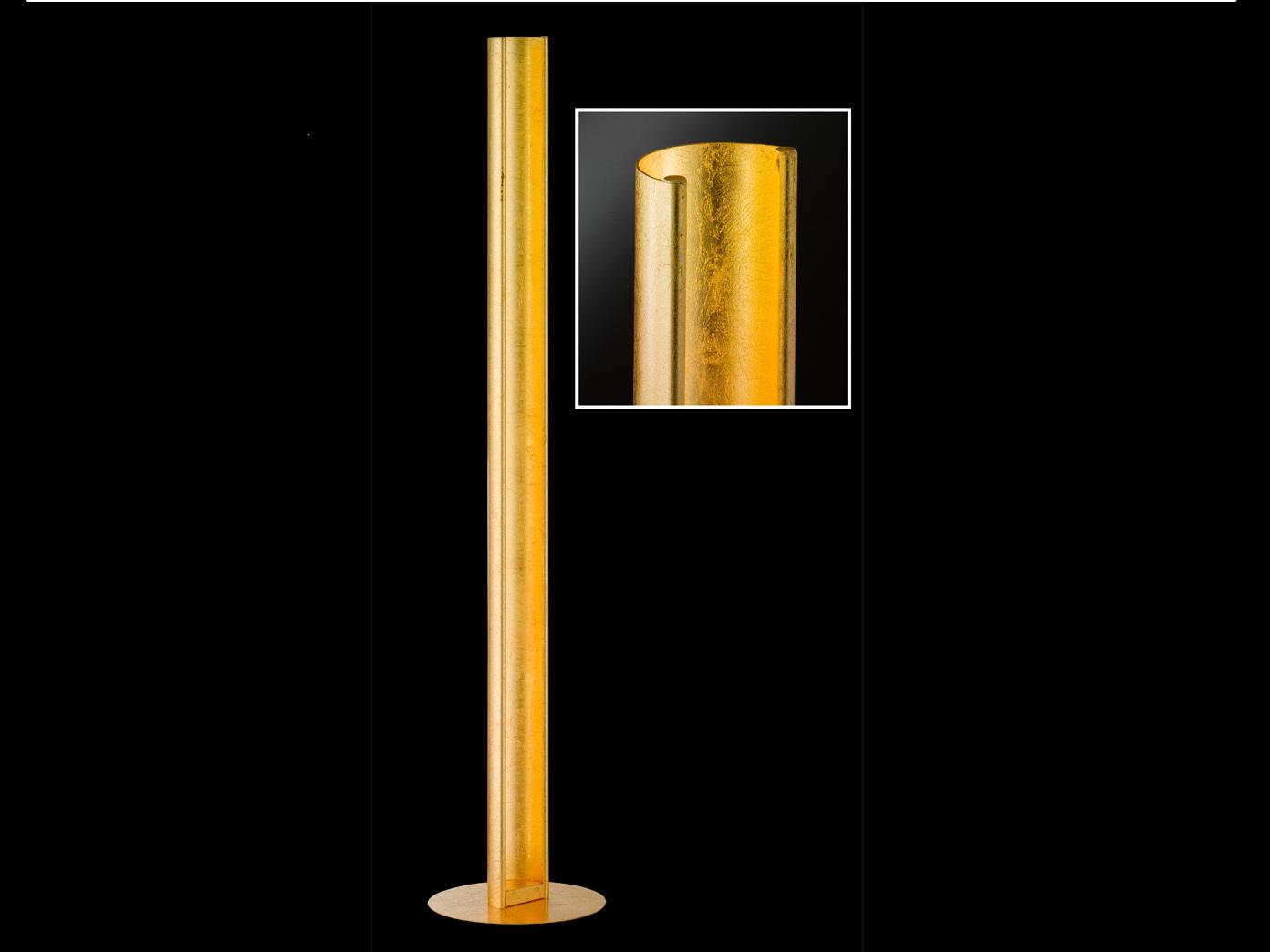 Fabelhaft Led Stehlampe Dimmbar Foto Von Designerlampe-led-stehlampe-dimmbar-hoehe-126cm-gold-standlampe-