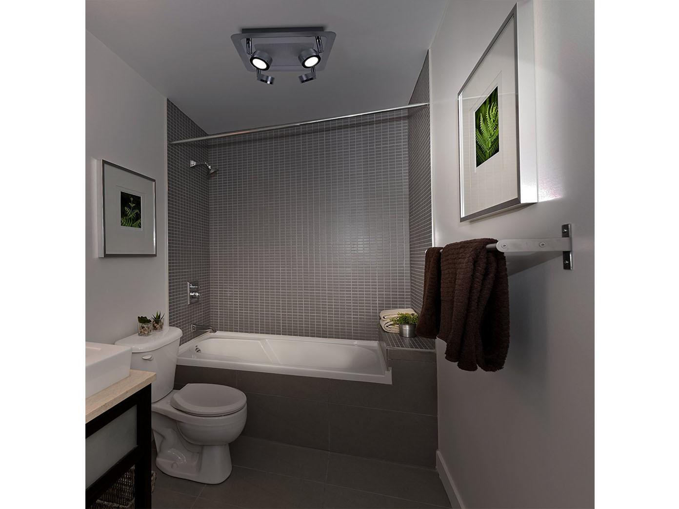 2stk led badlampen deckenleuchten schwenkbare deckspots 4flammig badbeleuchtung ebay. Black Bedroom Furniture Sets. Home Design Ideas