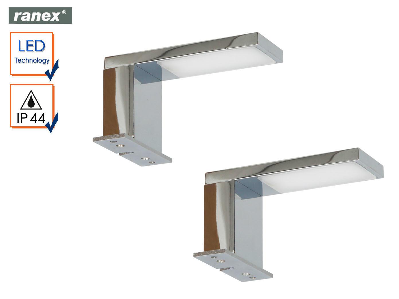 Das Bild Wird Geladen 2x LED Spiegelleuchten Fuers Badezimmer  Spiegellampe Chrom Badbeleuchtung