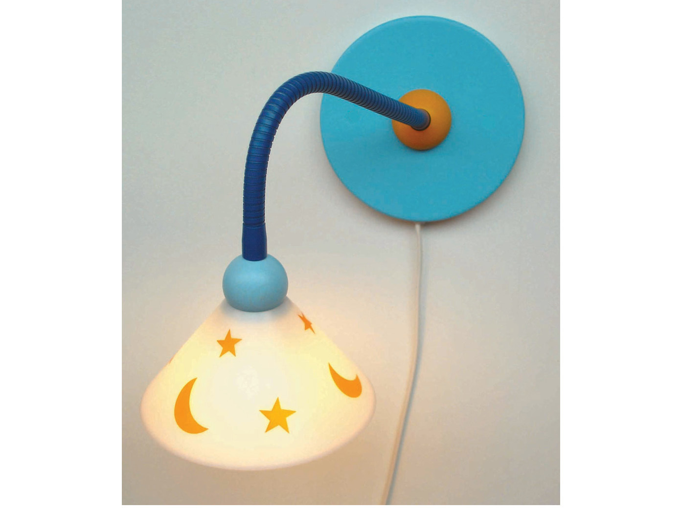 led wandlampe kinderzimmer jungen m dchen mond sterne kinderlampe flexrohr ebay. Black Bedroom Furniture Sets. Home Design Ideas