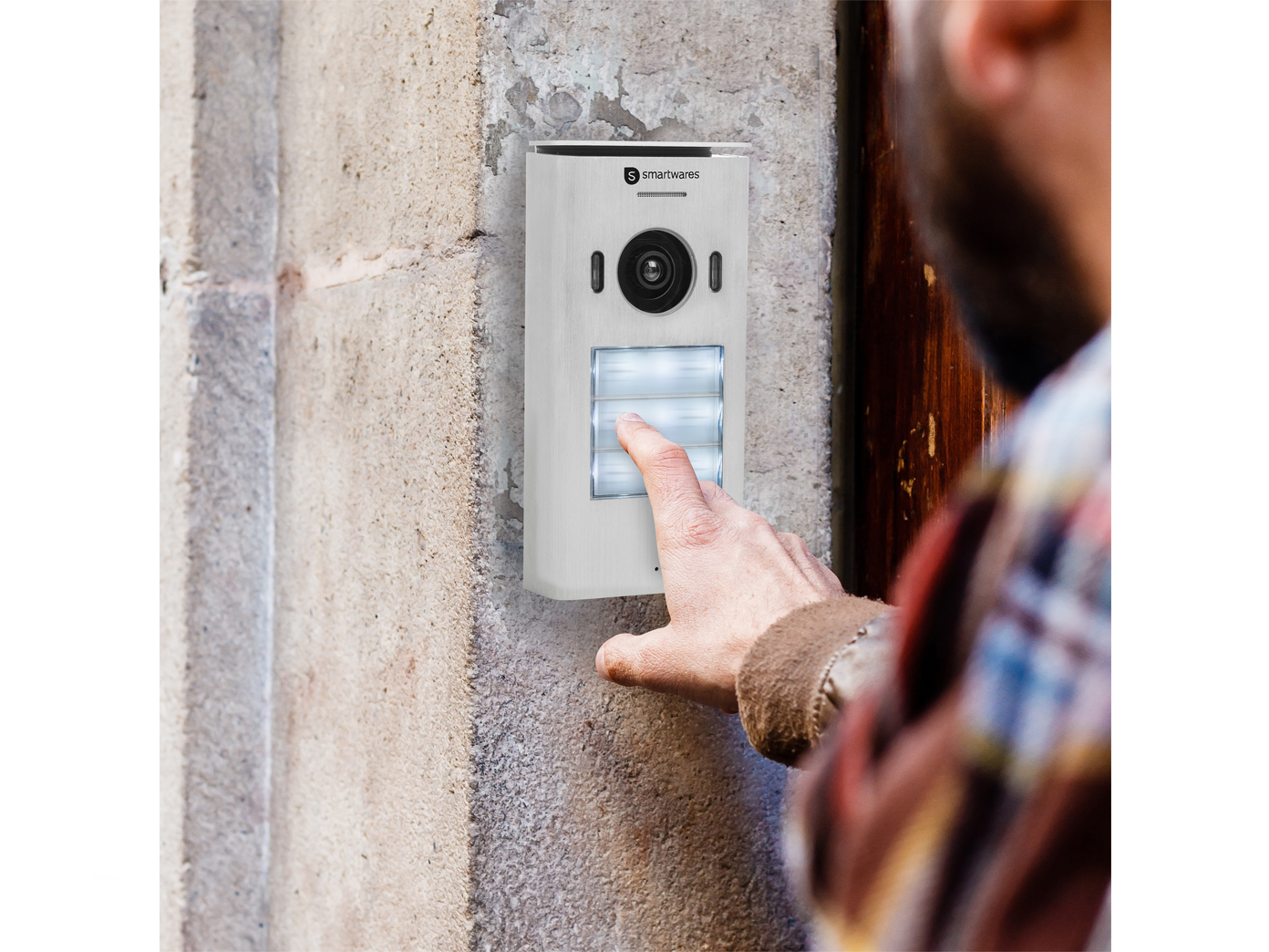 Video Wechselsprechanlagen Set Dreifamilienhaus + Öffner, Klingelanlage Haustür 9