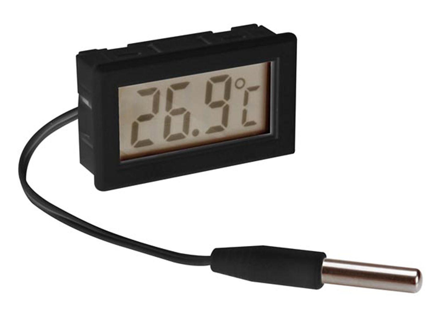 Kühlschrank Thermometer Digital : Digital einbauthermometer mit fühler zimmerthermometer
