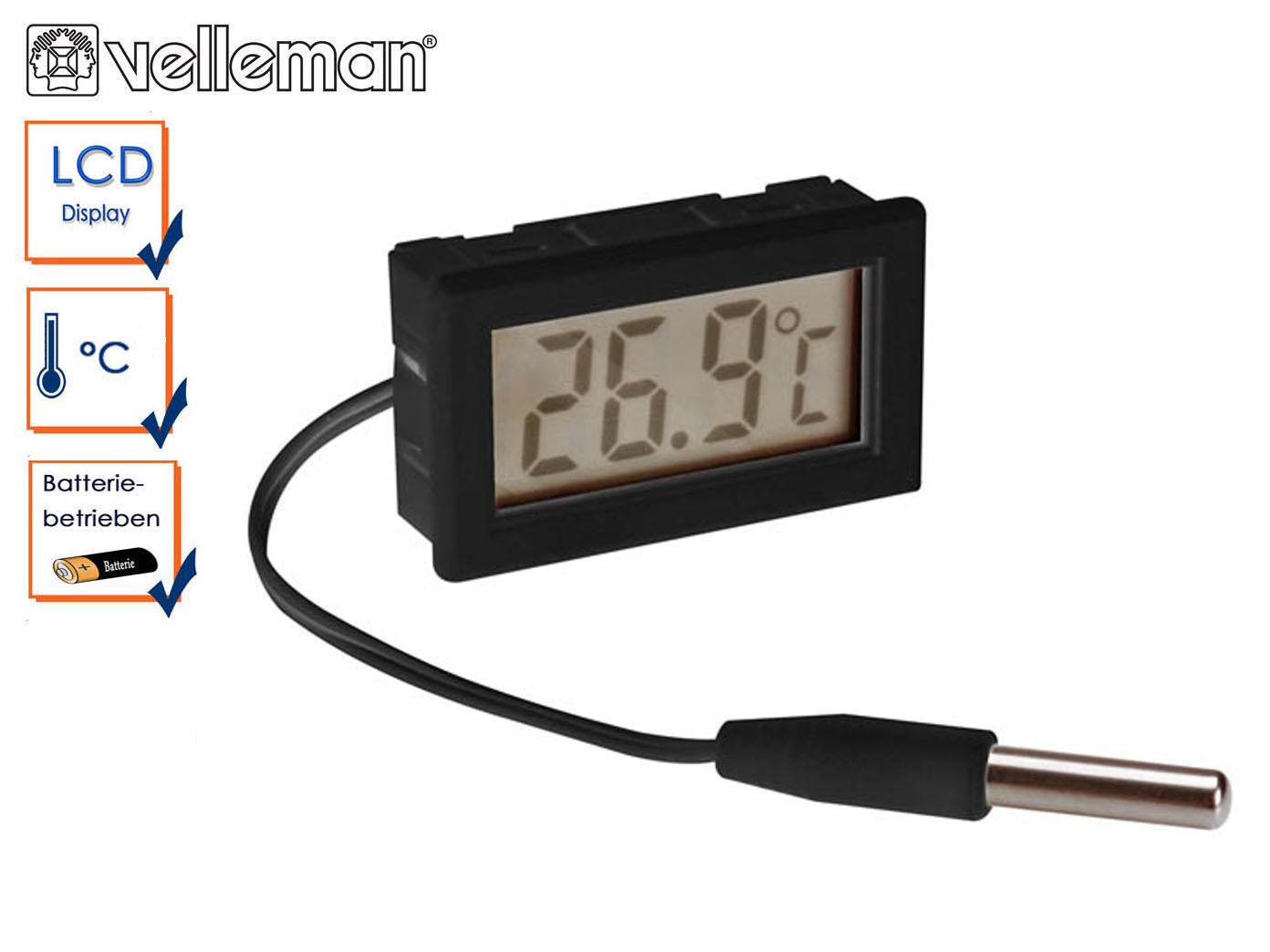 Kühlschrank Thermometer : Digital einbauthermometer mit fühler zimmerthermometer