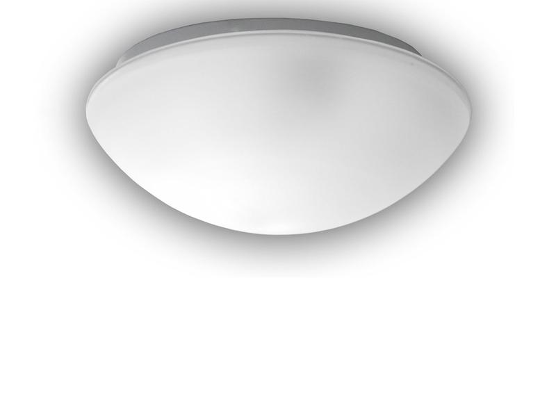 led deckenleuchte rund glas satiniert mit klarrand 20cm k chenlampe neu ebay. Black Bedroom Furniture Sets. Home Design Ideas