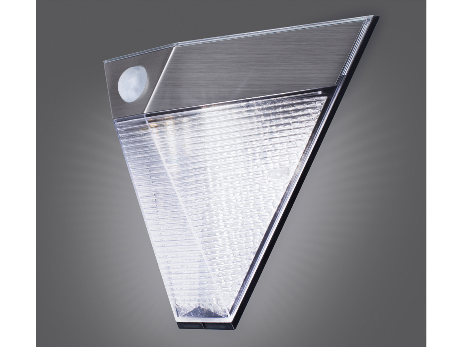 solar led au enwandleuchte bewegungsmelder dreieckige au enleuchte garten ip43 ebay. Black Bedroom Furniture Sets. Home Design Ideas