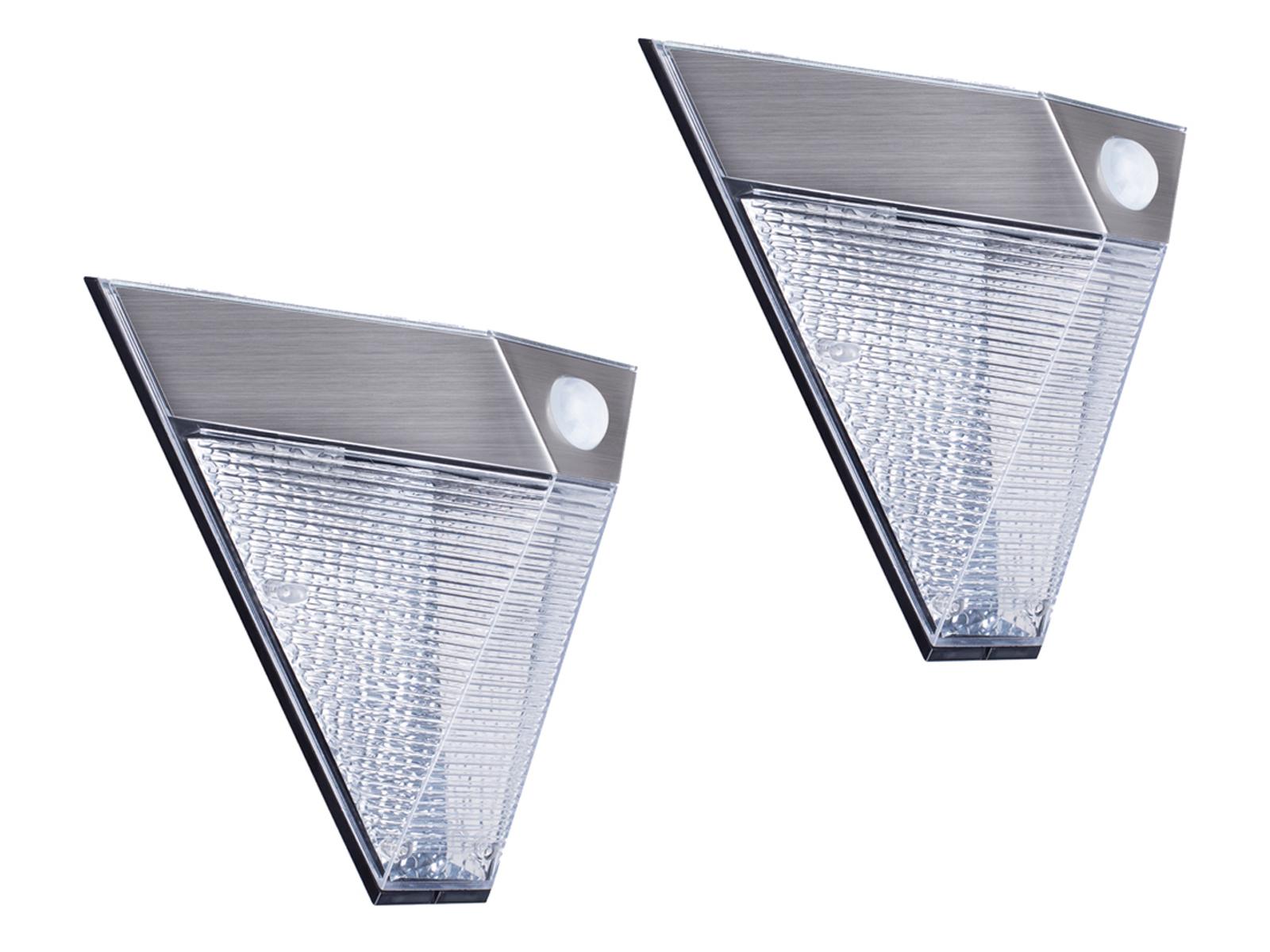 Er set led illuminazione esterna casa triangolare rilevatore di