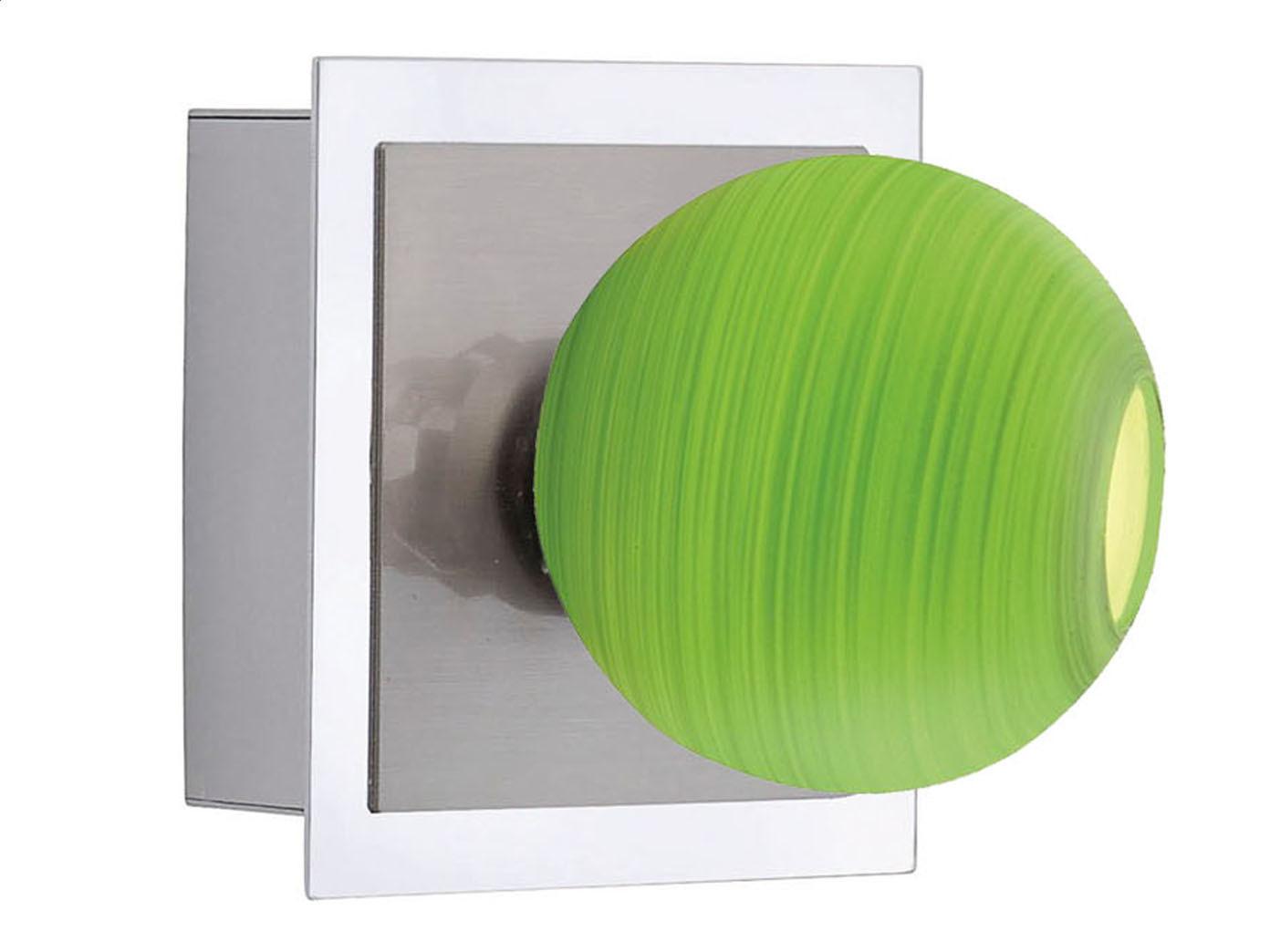 Led wandlampe mit schalter glaskugel gr n leuchte wohnzimmer flur wohnraum ebay - Led wandlampe mit schalter ...