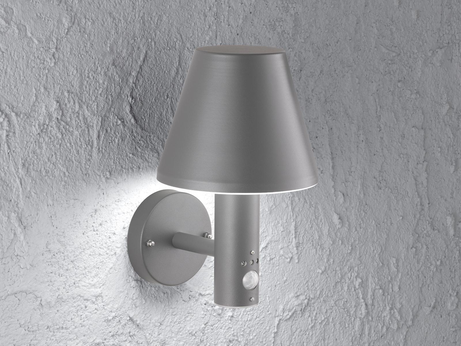 Lampada muro esterno con rilevatore di movimento in alluminio ip44 LED illuminazione di facciata continua